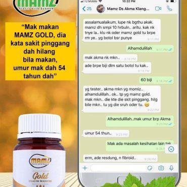 SAKIT PINGGANG DAH HILANG LEPAS AMALKAN MAMZ GOLD!